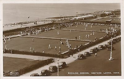 POSTCARD  SUSSEX  HOVE  Bowling Green
