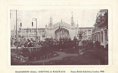 POSTCARD  EXHIBITIONS  Franco  British London 1908  Machinery  Hall