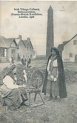 POSTCARD  EXHIBITIONS  London  Franco  British 1908  Irish Village Colleens