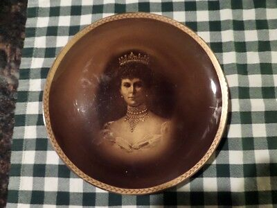 """Queen Mary - 9"""" Diameter Portrait Plate by Ridgways - 1911 Coronation"""