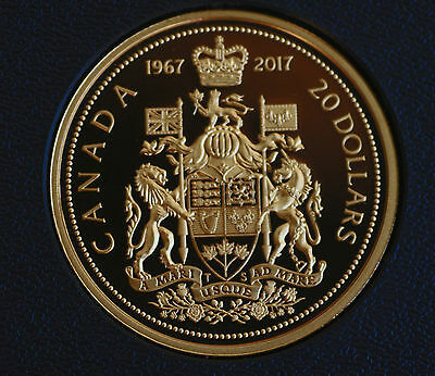 1967-2017 CANADA $20 gold plated commemorative 99.99% silver from Centennial set