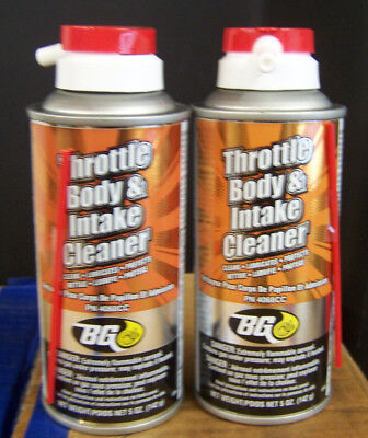 BG Throttle Body & Intake Cleaner  #4068CC  (2) 5 oz. CANS Professional Service