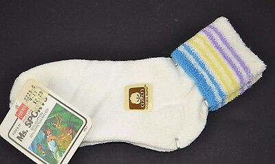 Vtg Hanes Ms. Sports Soft STRIPED TERRY CUFF Women's Athletic Ankle Socks #1