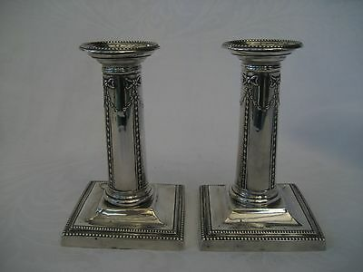 VICTORIAN SILVER DRESSING TABLE CANDLESTICKS - Goldsmiths & Silversmiths Co.