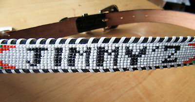 VINTAGE 1980s NWT JIMMY'Z SURF BEADED BELT, WAS $69.00 IN THE 80s, AUTHENTIC
