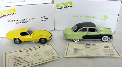 14 Pc. Danbury Mint Collector Cars 1:24 Scale With 1950 Ford Crestliner Green