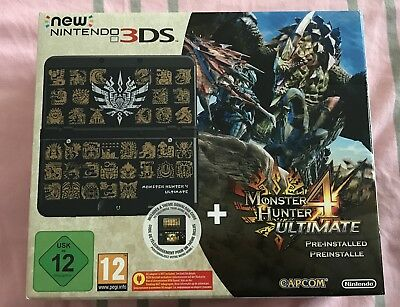 Console New 3DS Nintendo Collector Monster Hunter 4 Ultimate Lot