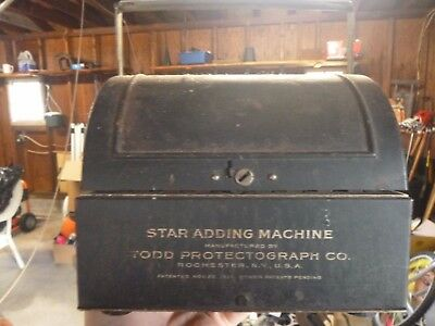 Vintage Star Adding Machine by Todd Protectograph co.