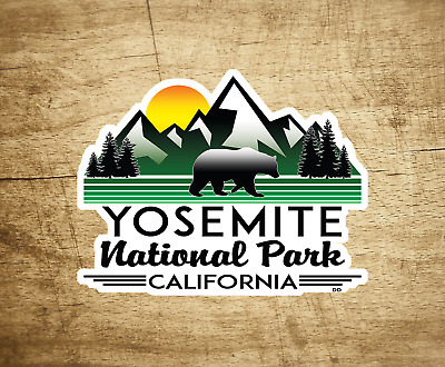 "Yosemite National Park California Decal Sticker Vinyl Mountains 4"" Hiking"
