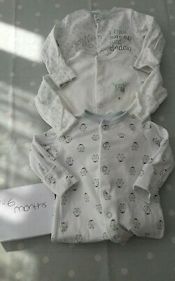 boys girls sleepsuits Boots size 3-6 months