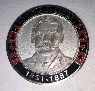 Red Black and Silver Doc Holiday Coin