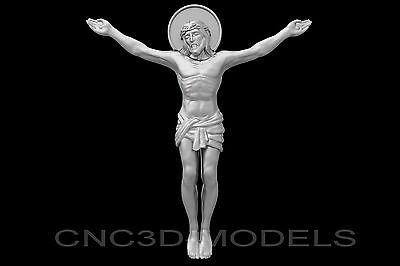 3D Model STL for CNC Router Engraver Carving Artcam Aspire Jesus Christ e958