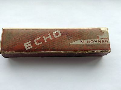 Vintage M Hohner The Echo Harmonica Boxed Cased Made in England