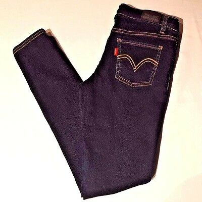 "LEVI'S Denim Leggings Adjustable Girls Jeans Size 16 Reg Inseam 28 1/2""- 26-12"