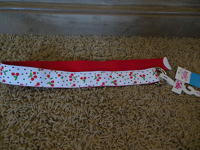 Justice Red & White Cherry Belt Girls Size S Nwt ~Cute~