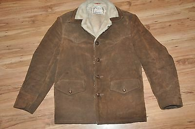 Vtg  SCHOTT BROS Leather Rancher Coat Size 42 Split