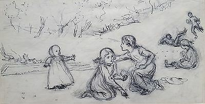 Original pencil & ink drawing. Leonard Leslie Brook.19thC/early 20thC
