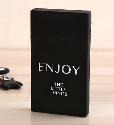 New Silicone Enjoy Case Box Holder Tobacco Cigarettes Slim Gift Women Cover Pack