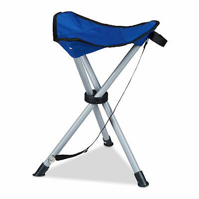 3-Leg Stool, up to 100kg, Sturdy Camping Seat, Outdoors, Foldable, Fishing Chair
