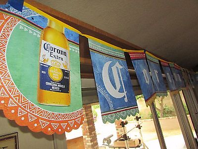 NEW 16' Corona Extra Light String Banner Cervaza Man Cave Fiesta Party