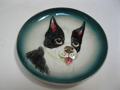 Vintage Boston Terrier Occupied Japan Small Plate