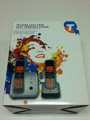 Telstra 9200 TWIN cordless phone handsfree NEW