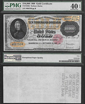 """**RARE** ONLY KNOWN XF PMG EPQ $10,000 """"GOLD NOTE"""" FR#1225h **PMG XF/40 EPQ**"""