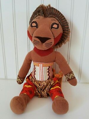 "Disney The Lion King Simba 10"" Plush Stuffed Character Toy Broadway Musical"