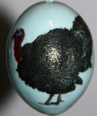 gourd Easter egg, garden or Christmas ornament with turkey