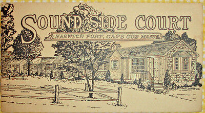 SOUND SIDE COURT/HARWICH PORT CAPE COD MASS--4 Pp BROCH/TARIFF W/WRAPPERS/RARE!