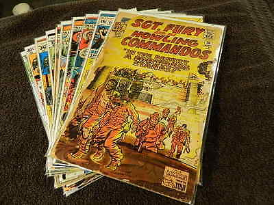 (10) 1963 MARVEL Comics SGT. FURY And His Howling Commandos #16-162 Rare War Lot