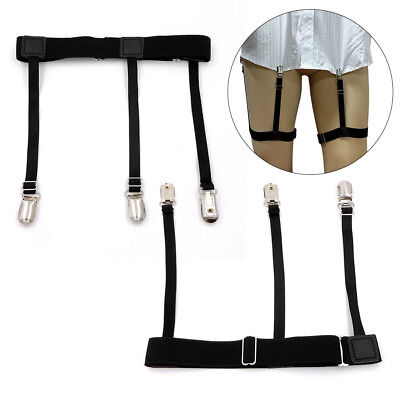 1 Pair Men's Shirt Stay Holders Elastic Braces Suspender Garters Anti-slip HS975