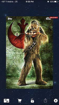Topps Star Wars Digital Card Trader Galactic Crests Chewbacca