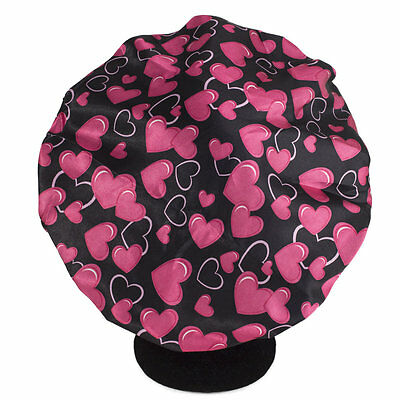 Dilly's Collections Sleeping Cap Silk Feeling Double Layered Hair Protect Heart
