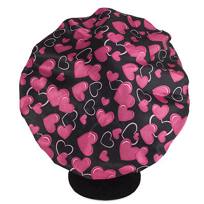 NEW Dilly's Collections Luxury Satin Sleeping Bonnet Protects Hair Heart Design