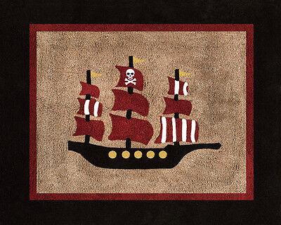 Boys Baby Kids Floor Rug for Sweet Jojo Designs Treasure Cove Pirate Bedding Set