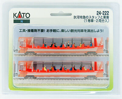 """Kato 24-222 Model People """"Glacier Express Crew and Passengers"""" (N scale)"""