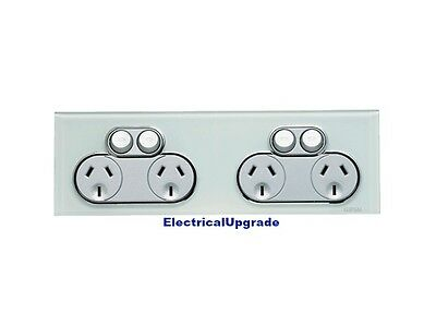 Clipsal Switches Saturn Offer 4 Gang Quad Power Point 4025H2 Available in colors