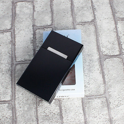 Cigarette Tobacco Cigar Case Holder Aluminum Pocket Box Container Pack 2#
