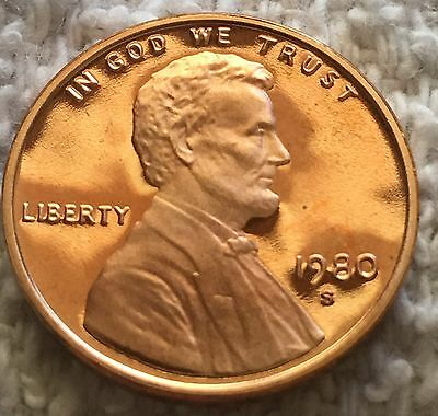 1980-S Proof Lincoln Cent From U.s. Mint Set Wow Cheep Price