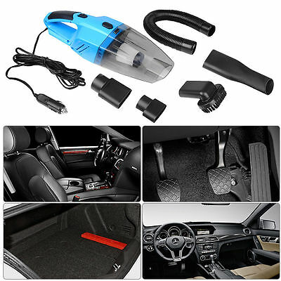 Portable 12V 120W Handheld Wet & Dry Car Boat Home Vacuum Cleaner With LED Light
