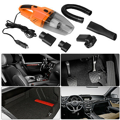 Portable 12V 120W Handheld Wet & Dry Auto Car Home Vacuum Cleaner With LED Light