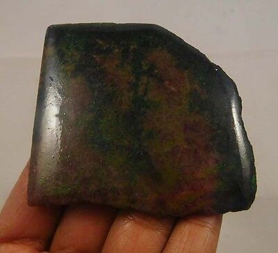 345 Cts. 100% Natural Free Form Rhodonite Slice Rough Specimen (NG746)