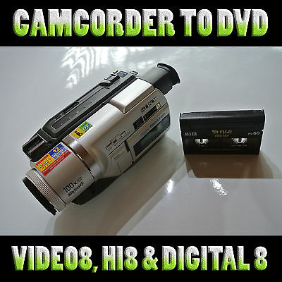Convert your Hi8, Video 8, Digital 8 camcorder tapes to DVD