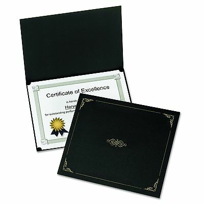 Oxford Certificate Holders, Letter Size, Black, 5 per Pack - Certificate Covers