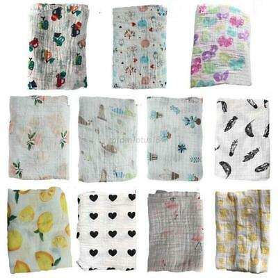 Infant Baby Kids Muslin Soft Swaddle Sleeping Blanket Newborn Wrap Bath Towel