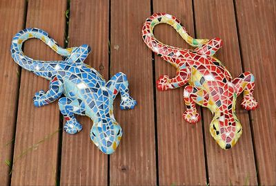 Mosaic Lizard Gecko Garden Patio Ornament Decoration Christmas Gift Two Designs