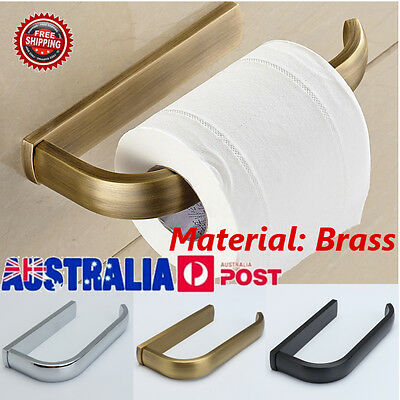 3 Colors Brass Toilet Paper Roll Holder Tissue Bathroom Wall Mount Storage Hook