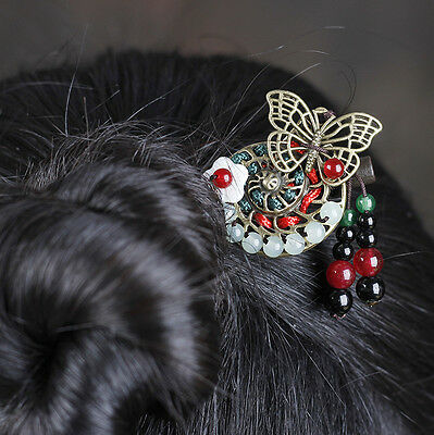 Chinese Style Retro Vintage Classical Ladies Wood Tassels Hairpin Hair Jewelry