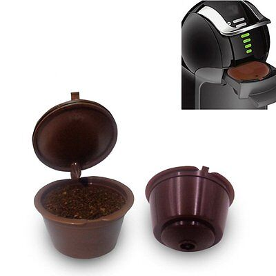 Hot 4 Reusable Coffee Capsules Cup Filter For Dolce Gusto Refillable Brewers